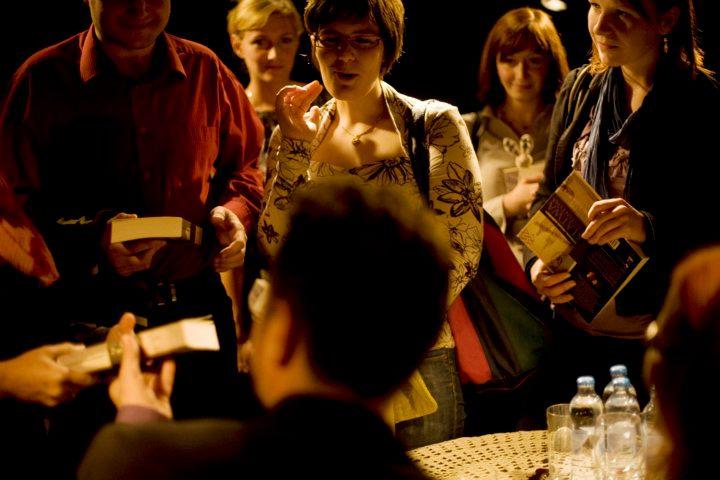 Wieczór autorski Małgorzaty i Michała Kuźmińskich, wrzesień 2011 r. / fot. Grażyna Makara